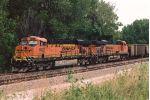 Empty coal train waits to move