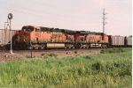 Tied down empty coal train