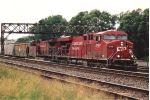 Eastbound grain train rolls through Division