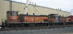 Milwaukee Road MP15ACs on the CPR in Apr 2012 in St Paul MN.
