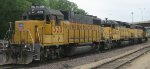 UP GP and SD40-2s in St Paul MN Aug 2012.