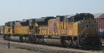 UP SD70ACE and SD90MAC at St Paul Daytons Bluff Belt Yard in July 2012.