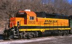 BNSF GP35 in March 2012 in St Paul MN.