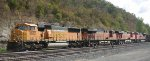BNSF on the westbound mainline at St Paul Daytons Bluff in Sept 2012.
