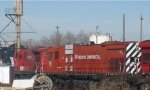Minnesota Commercial working Alco C636 in St Paul in April 2012.