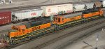 BNSF hump yard power at Northtown in Mpls MN in 2012.