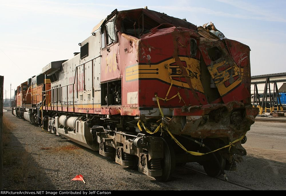 Wreck-damaged BNSF 793