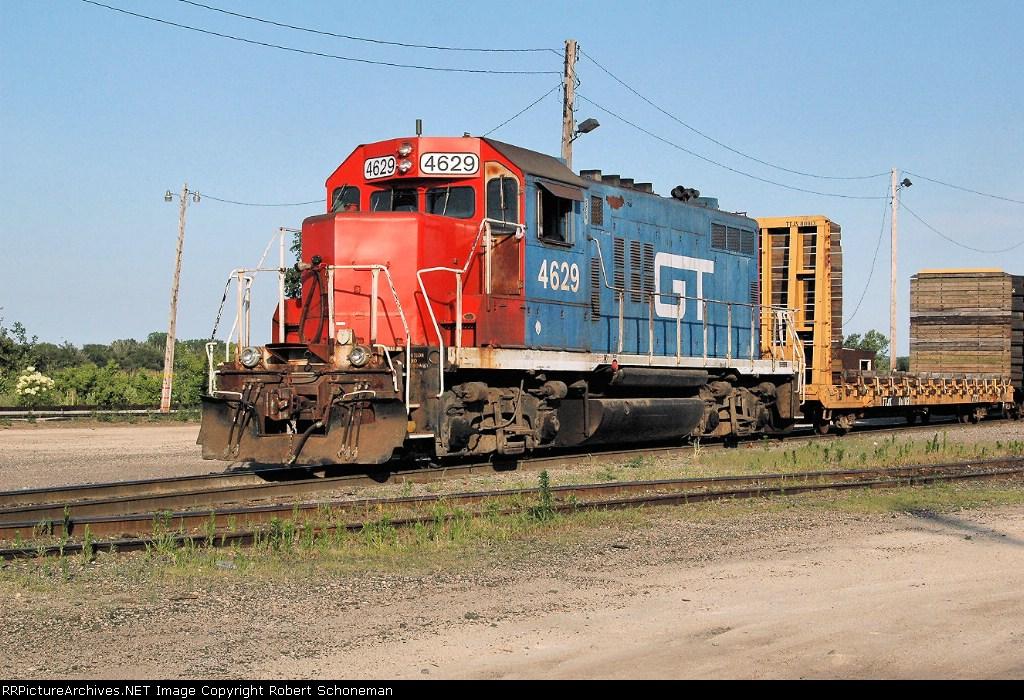 GT GP9R 4629 at Shops Yard 6-30-07