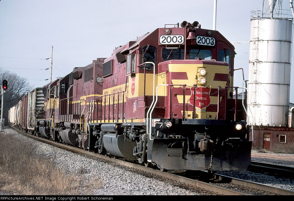 WC 2003 & DMIR unit and retired SD45  T408  12-16-06