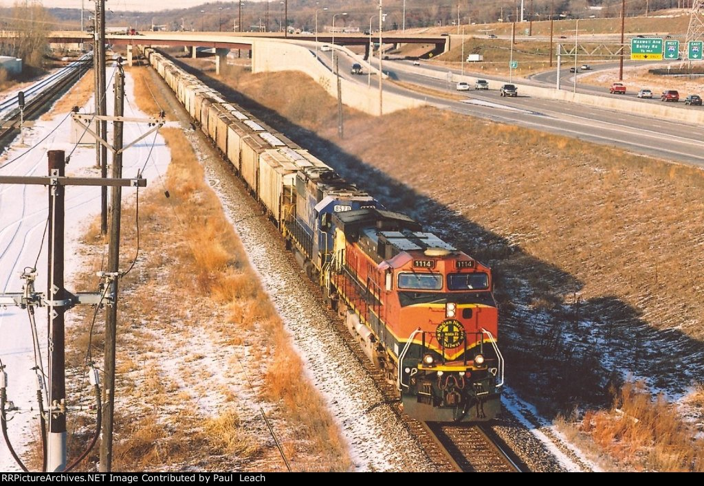 Eastbound unit phosphate train