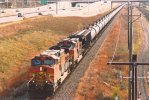 Westbound unit crude oil train