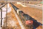 Eastbound unit crude oil train