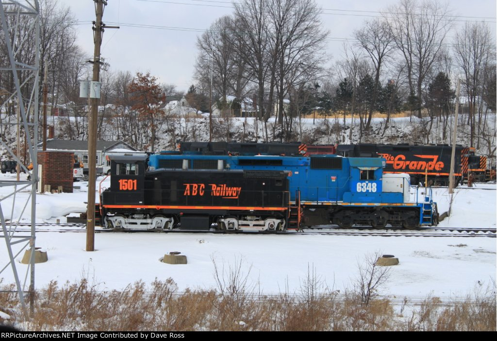 Akron Barberton Cluster Railway on ready track at Akron Brittain Road Yard