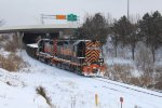 Wheeling and Lake Erie GP35's entering Akron Brittain Yard