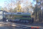 Stone Mountain Railway 5896 sits at the shop waiting for its next assignment