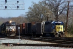 CSX local clears the diamond to let NS train pass