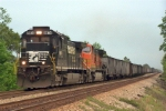 NS 8874 leading westbound empties