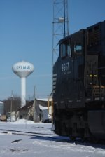 NS 9667 and the Delmar water tower