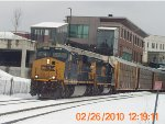 CSX Q293 and her new crew begin their journey westbound