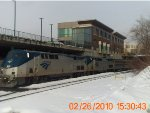 Amtrak P449 arrives in Pittsfield