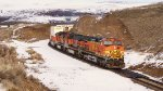 BNSF 4302 and Two other Trash 9's lead a Stack Train East.