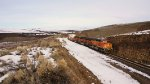 BNSF 4302 streatched out around the loop.