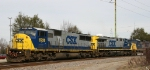 CSX 8726 leads train U306 south out of town