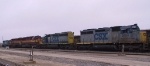 CSX 8404 & 8202 follow a pair of WC units on a southbound train