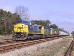CSX 7391 leads a train southbound
