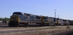 CSX 7824 & 3 other GE units get ready to depart the yard