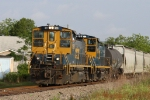 CSX 1180 leads a train towards the ports