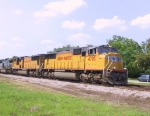 UP 4705 leads another UP unit on a CSX train