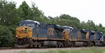 CSX 5481 leads train E550-28 northbound