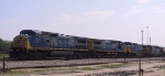 CSX 7775 leads a train onto the Charleston Sub