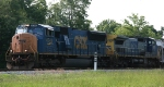 CSX 4744 & 7879 have just left Bennett Yard headed northbound
