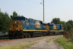 CSX 5489 & 5493 power train Q181 out of Florence Yard
