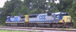 CSX 8615 & 7637 head south out of the intermodal yard