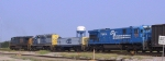 CSX 7123 is the last unit of an unusual consist