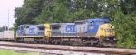 CSX 7880 & 7668 lead an intermodal train southbound
