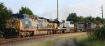 CSX 237 leads a variety of units on train Q407