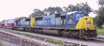 CSX 730 and another SD70 are on the lead of an intermodal train