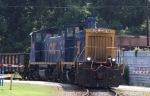 CSX 1104 & 1184 power a short train out of Bennett Yard