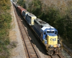 CSX 8115 leads train Q 491 southbound