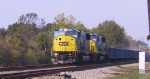 CSX 8733 & 8774 run elephant style on a southbound train