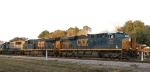 CSX 876 leads train Y123 back to the yard late in the afternoon