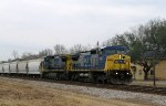 CSX 7691 & 7370 lead a train southbound