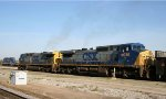 CSX 84 & 9030 lead a train southbound