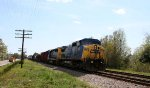 CSX 7674 & 8074 lead a train northbound