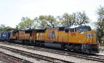 UP 5179 & 4285 sit in the intermodal yard