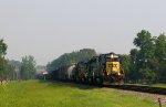 CSX 8319 leads a southbound train